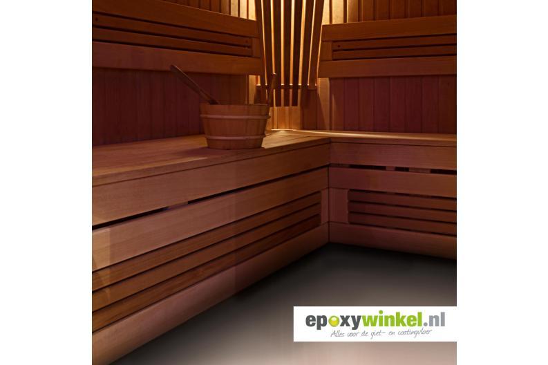 gietvloer in een sauna